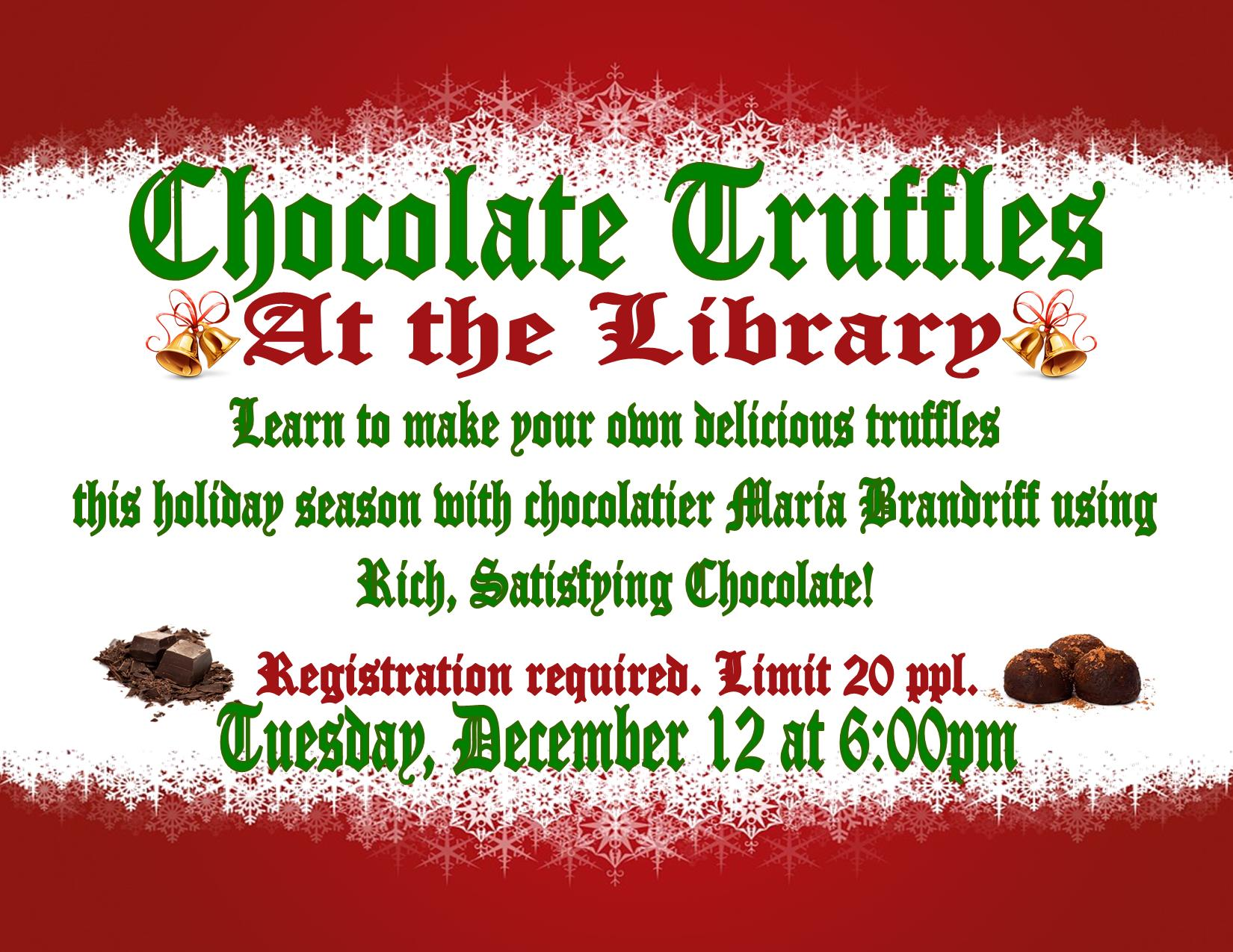 Chocolate Truffles at the Library
